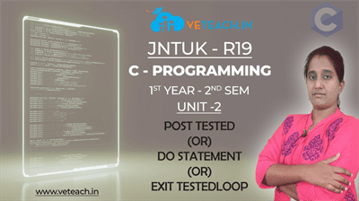 POST TESTED (OR) DO STATEMENT (OR) EXIT TESTEDLOOP