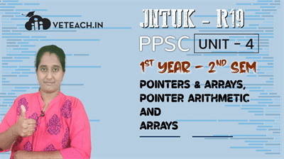 POINTERS & ARRAYS,POINTER ARTHMETIC AND ARRAYS