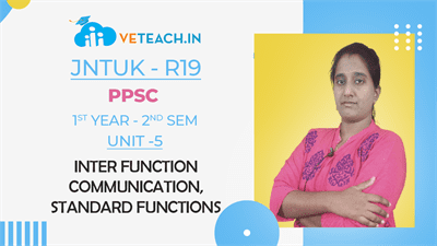 INTER FUNCTION COMMUNICATION,STANDARD FUNCTIONS