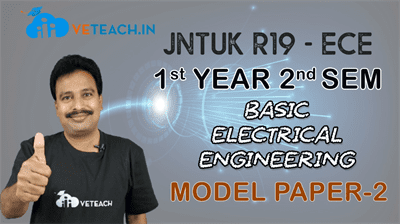 Basic Electrical Engineering  Solved Model Paper - 2
