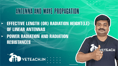 Effective Length (Or) Radiation Height(Le) Of Linear Antennas,Power      Radiation And Radiation Resistances