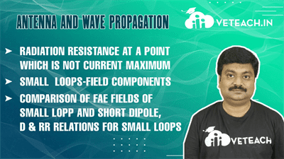 Radiation Resistance At A Point Which Is Not Current Maximum,Small  Loops-Field Components,Comparison Of Fae Fields Of Small Lopp And Short Dipole, D & Rr Relations For Small Loops