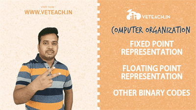 FIXED POINT REPRESENTATION_FLOATING POINT REPRESENTATION_OTHER BINARY CODES