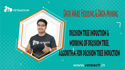 DECISION TREE INDUCTION & WORKING OF DECISION TREE,ALGORITHM FOR DECISION TREE INDUCTION