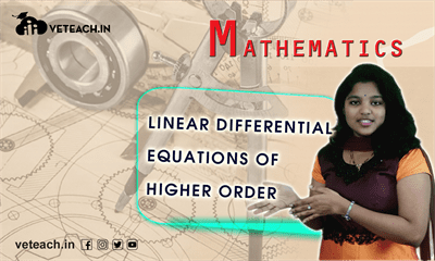 Linear Differential Equations Of Higher Order