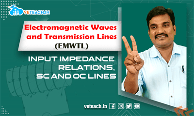 Input Impedance Relations, Sc And Oc Lines