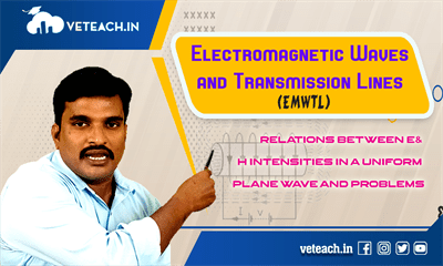 Relations Between E& H Intensities In A Uniform Plane Wave And Problems