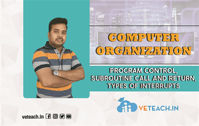 PROGRAM CONTROL,SUBROUTINE CALL AND RETURN,TYPES OF INTERRUPTS