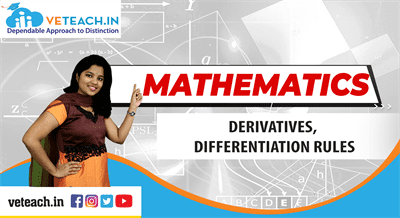 Derivatives, Differentiation Rules