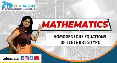 Homogeneous Equations Of Legendre's Type