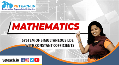 System Of Simultaneous Lde With Constant Cofficients