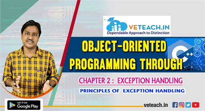 Principles Of  Exception Handling