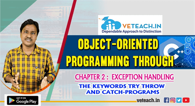 The Keywords Try Throw And Catch programs
